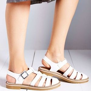 Urban Outfitters Lori Shiny White Strappy Sandals